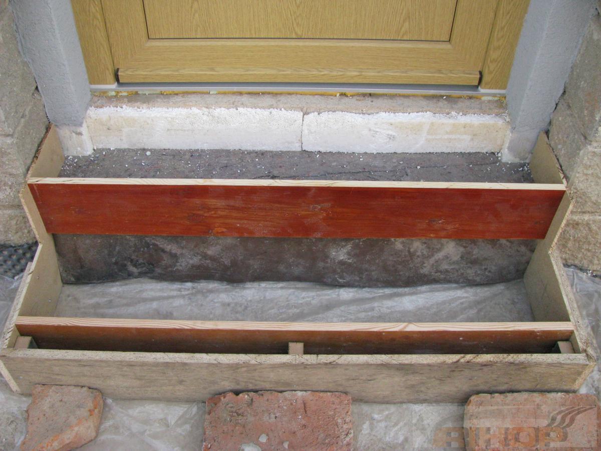 Oprava starých betonových schodů
